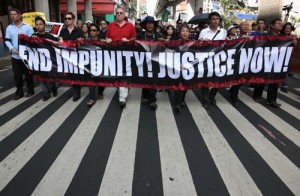 Rallying for the victims of the Ampatuan massacre Source: IFJ Asia-Pacific