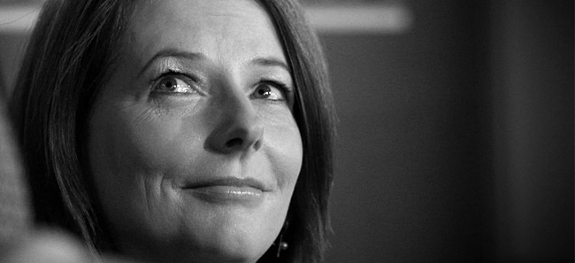 The Prime Minister Julia Gillard