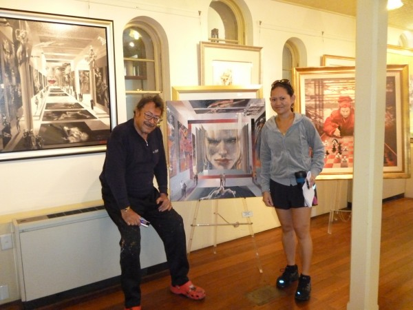 April 22, 2011: Charles Billich and The Australian Filipina writer, Michelle Baltazar, at his gallery.